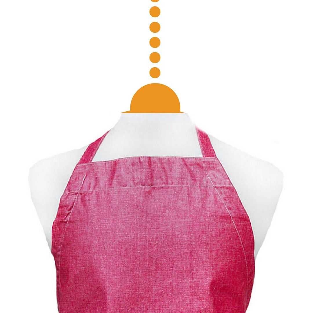 Hipster Apron Chambray Red
