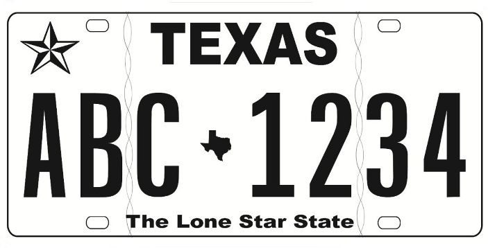 black and white texas license plate - google search love the black