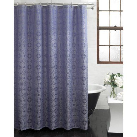 Excell Lucy 70 Inch X 72 Inch Fabric Shower Curtain Blue