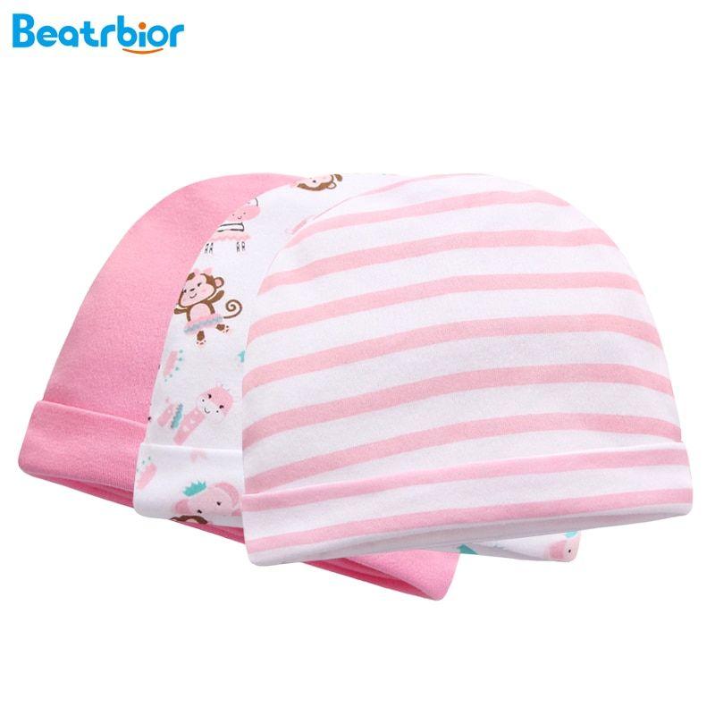 Hot Sale Newborn Boy Girl Baby Caps 100% Cotton Cute Print Infant Baby Hats  Autumn 6be0b1200bb