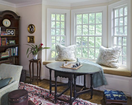 Inspiring Bay Window Bench Plans For Your House Interior Inspiring Bay Window Bench Plans With Tra Window Seat Design Traditional Family Rooms Bay Window Seat