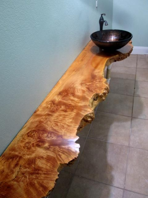 Big Leaf Maple Live Edge Bathroom Vanity - created with one of our