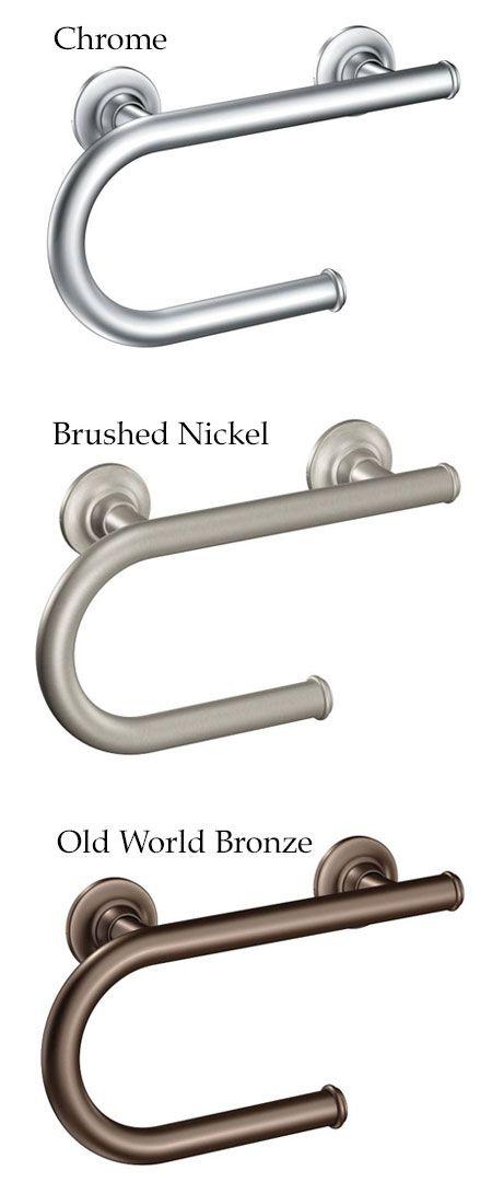 Moen Grab Bar Toilet Paper Holder Grab Bars Pinterest Grab - Brushed nickel grab bars for bathrooms for bathroom decor ideas