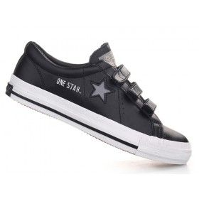 Converse One Star Leather 3 Strap Black