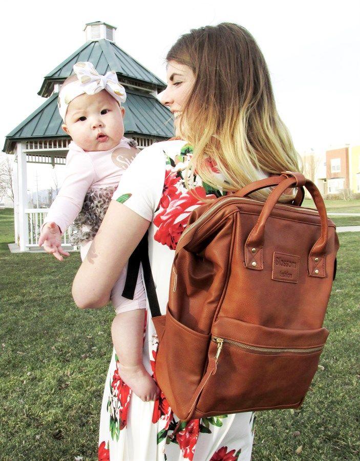 Designer Backpack Mama Bag Free Shipping Brown Leather Diaper Bag Leather Diaper Backpack Diaper Bag Backpack