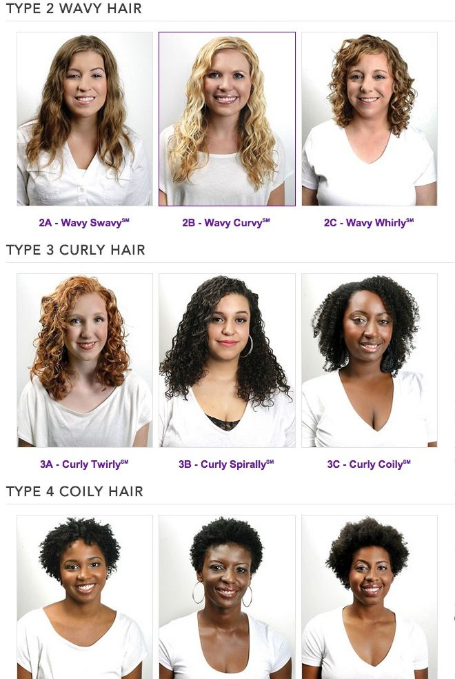 Hair Types With Images Hair Chart Curly Hair Styles Naturally