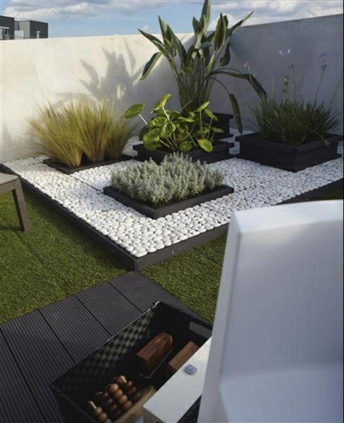 Garden Landscape In A Minimalist Style Garden Landscape