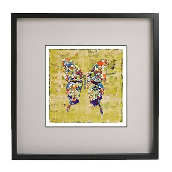 Butterfly print, modern art, butterfly bedroom wall art, abstract ...