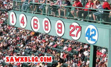 1 Bobby Doerr 4 Joe Cronin 6 Johnny Pesky 8 Carl