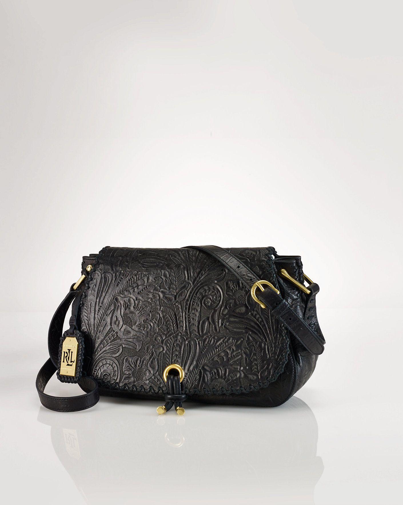 Leather Messenger Bag - Shoulder Bags   Backpacks Handbags   Luggage -  Ralph Lauren UK ba802340eb0e