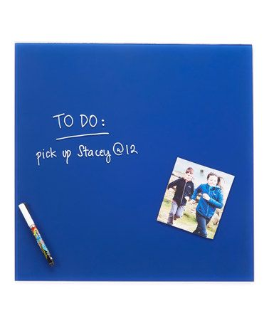 Loving This Blue Glass Magnetic Memo Board Set On #zulily! #zulilyfinds