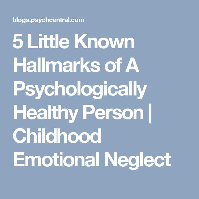 psychologically healthy person