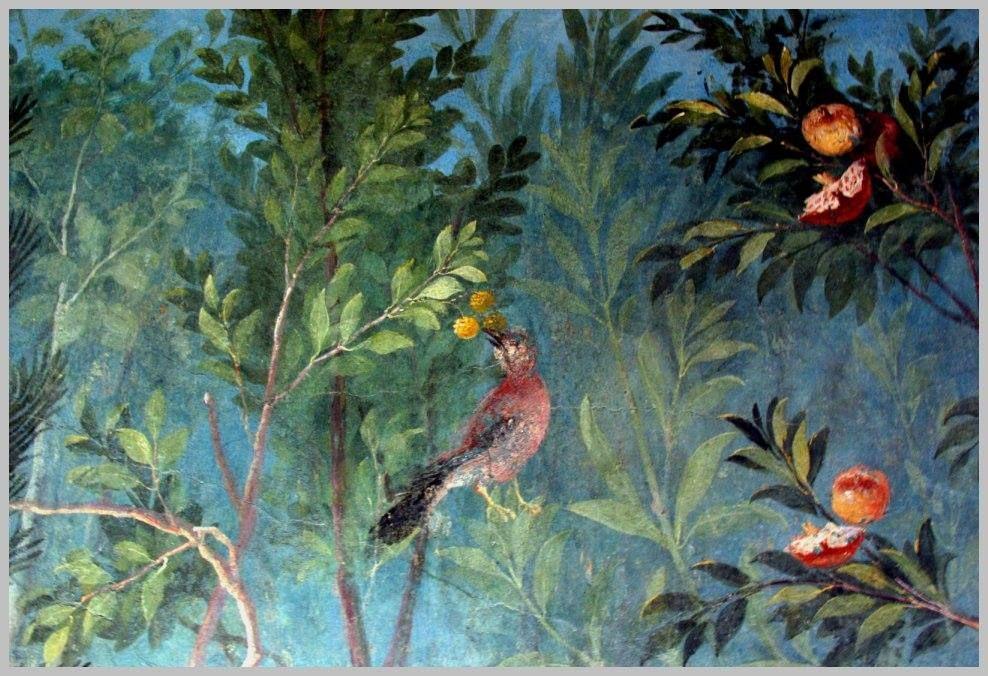 Ancient Roman wall decoration from Villa Livia. Palazzo Massimo ...