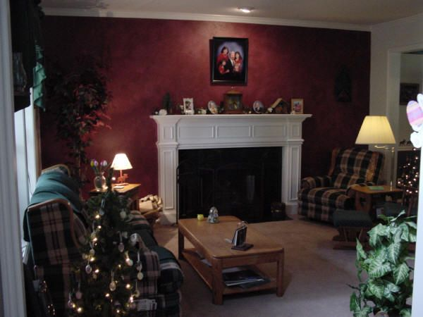 Burgundy Wall Color