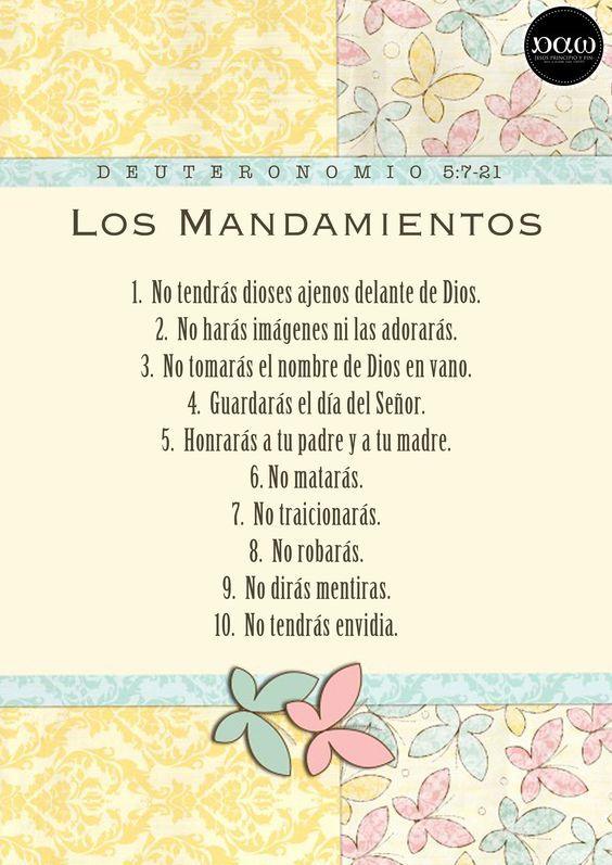 los 10 mandamientos para niños | Mandamientos para Niños | Arte y ...