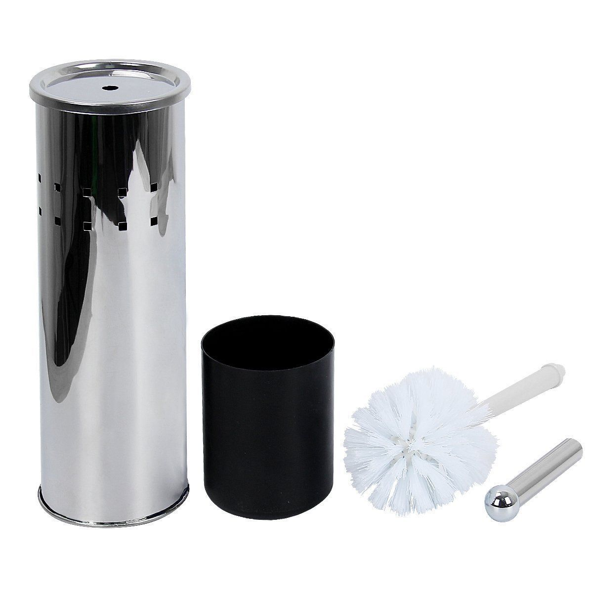 Toilet Brush Holder Bathroom Wc Lavatory Stainless Steel Vented ...