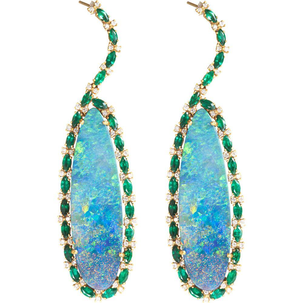 Sara weinstock emerald opal chandelier earrings 1496000 emerald opal chandelier by sara weinstock arubaitofo Image collections
