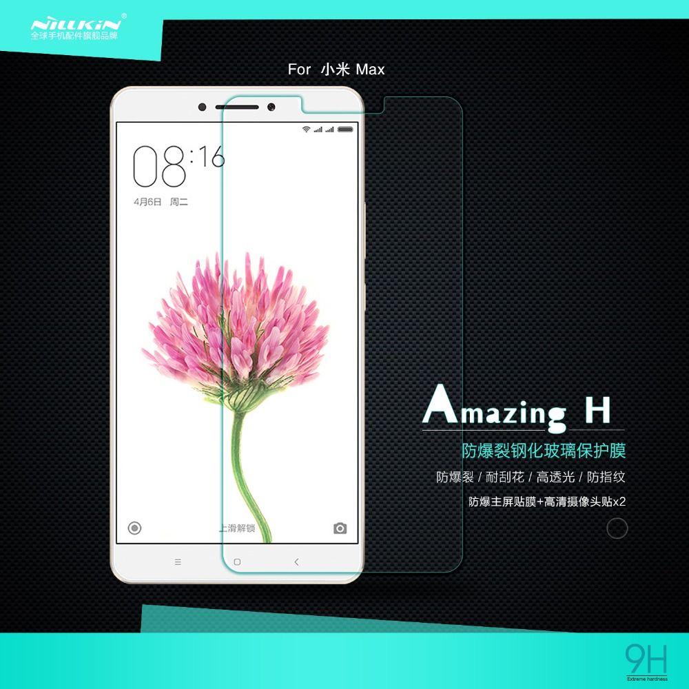 For Xiaomi mi Max Tempered Glass Screen Protector Original NILLKIN Amazing H Nanometer Super Clear Anti-burst Protective Film