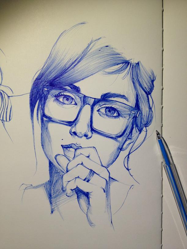 Ballpoint portrait by purakashi.deviantart.com on @deviantART