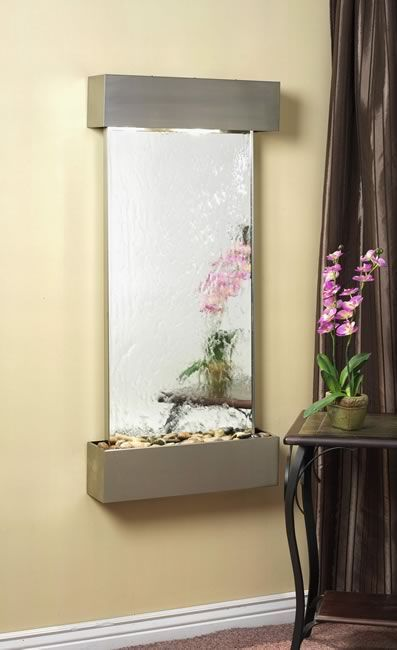 Affordable Indoor Wall Fountains Cascade Springs Mirror And Stainless Steel Indoor Wall Water Fountain Water Feature Wall Wall Fountain Cascade Springs