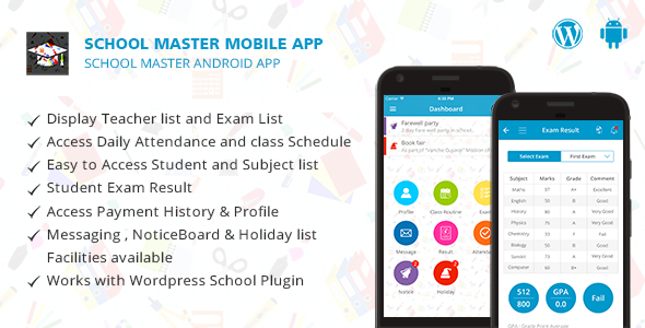 School Master Mobile App for Android Mobile app, App