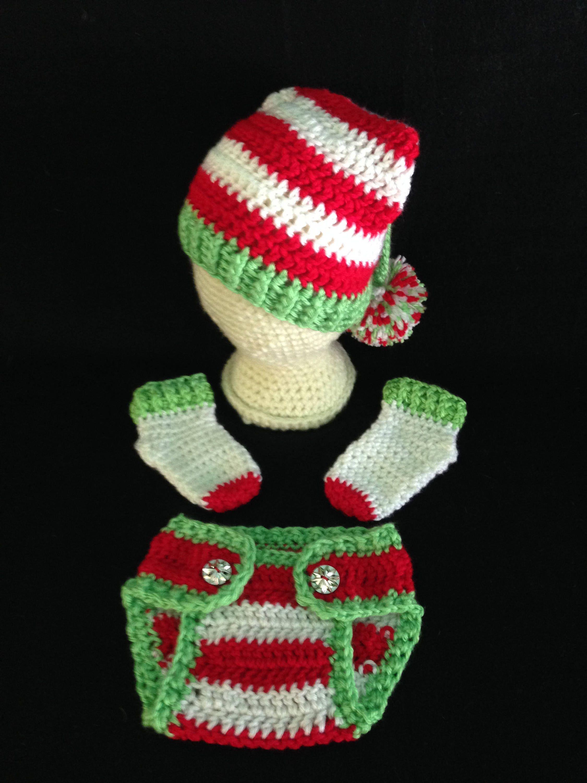 Crochet PATTERN - Elf Baby Hat Outfit; Newborn Baby Elf Slouch Hat ...
