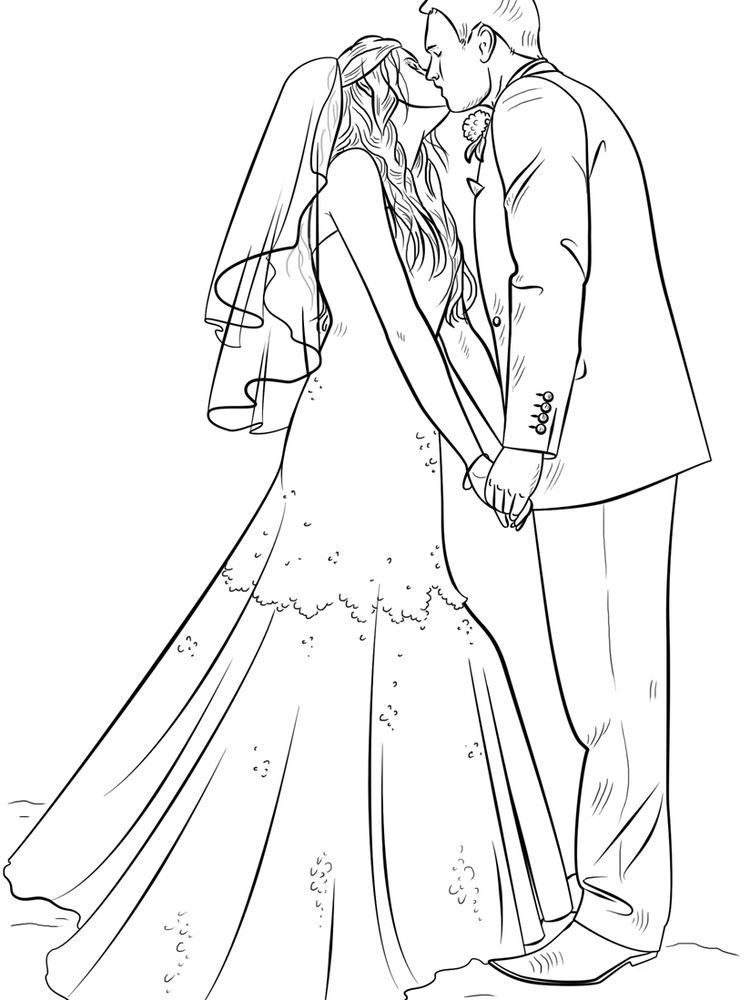 Wedding Bride And Groom Coloring Page Free Everyone Would Want To Build A Household Want To Raise Childr In 2020 Wedding Coloring Pages Wedding Drawing Groom Colours
