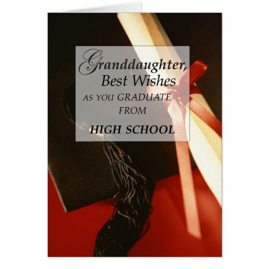 Granddaughter High School Graduation Wishes Card
