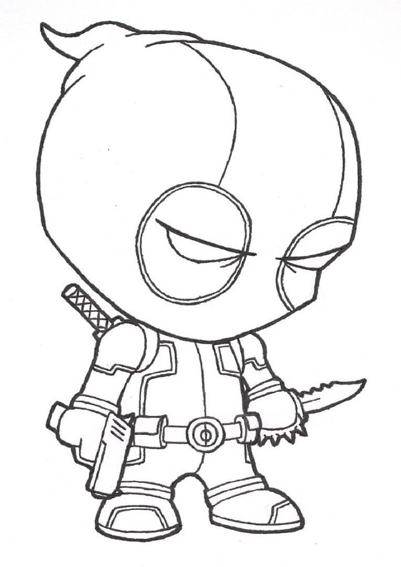 Printable Deadpool Coloring Pages Just Click On One Of The