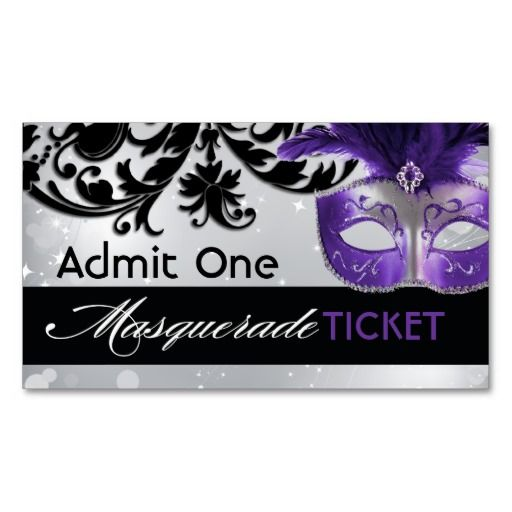 Masquerade Admission Tickets Admission ticket and Masquerades - prom ticket template