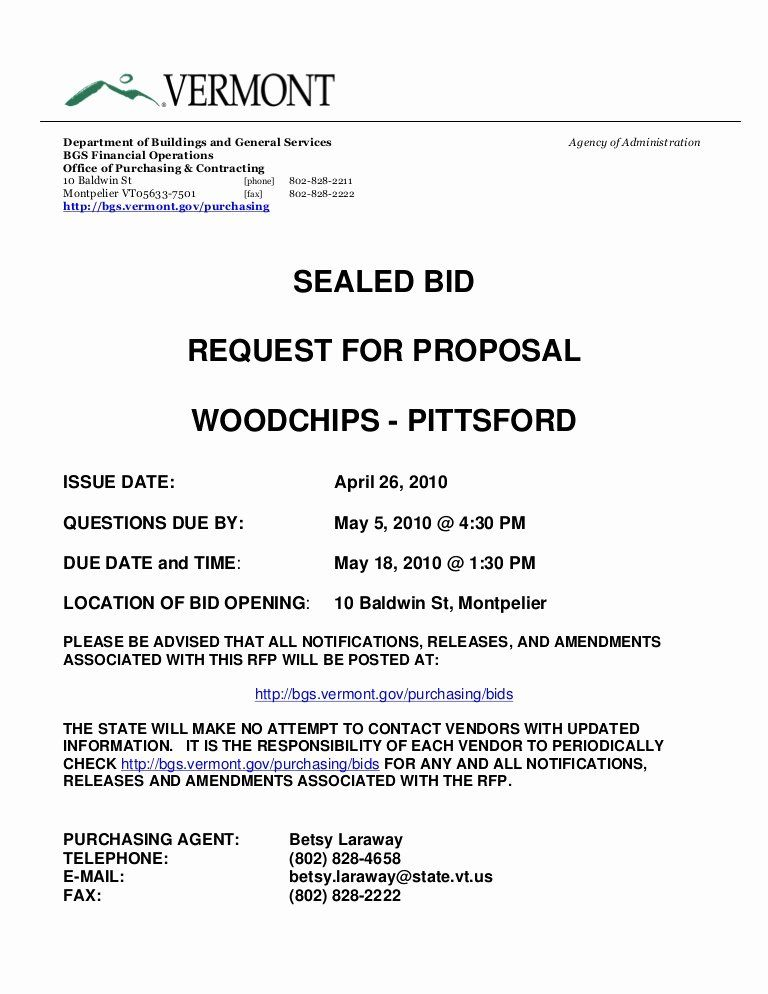 Equipment Purchase Proposal Template Luxury Sealed Bid Request For