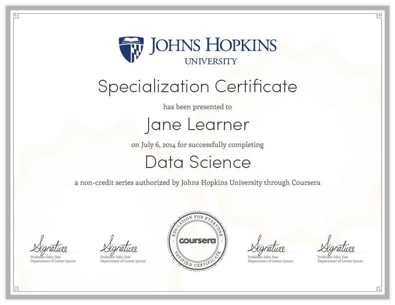 Data Science A Specialization On Coursera Your Pathway To