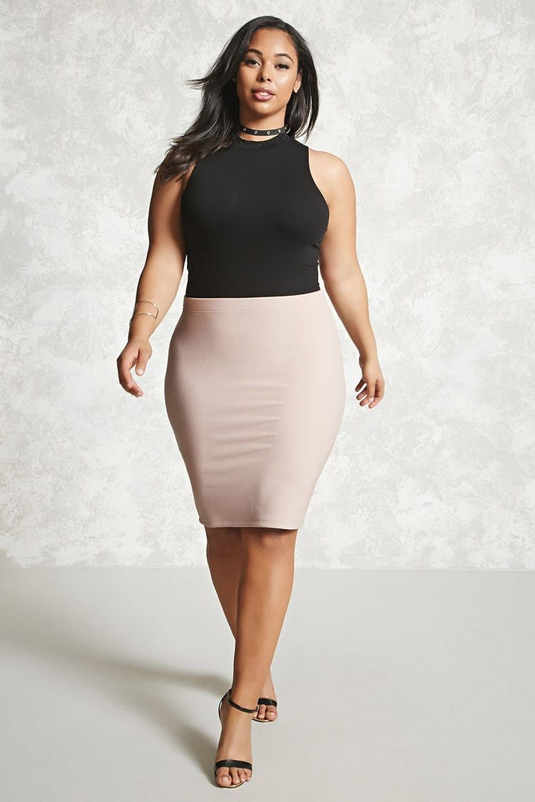 eadebcc0c8 Plus Size Bodycon Skirt - Plus Size Skirts | Forever 21 - 2000207850 - Forever  21 EU English