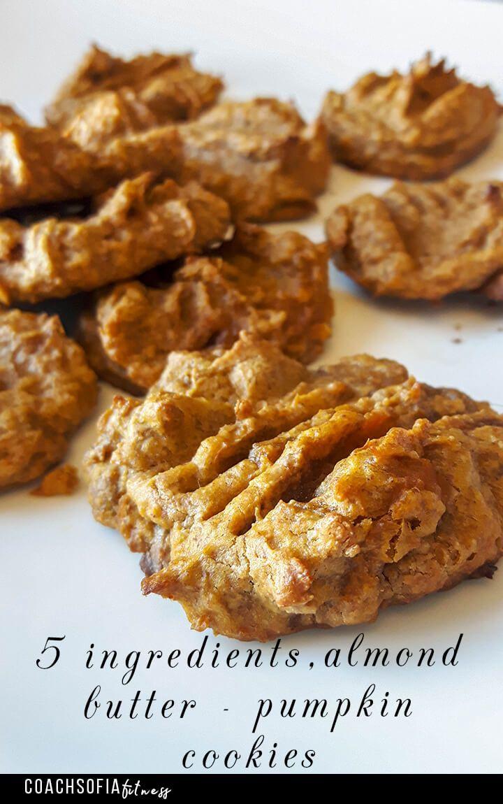Low Carb Almond Butter Pumpkin Cookies Paleo Grain Free Gluten