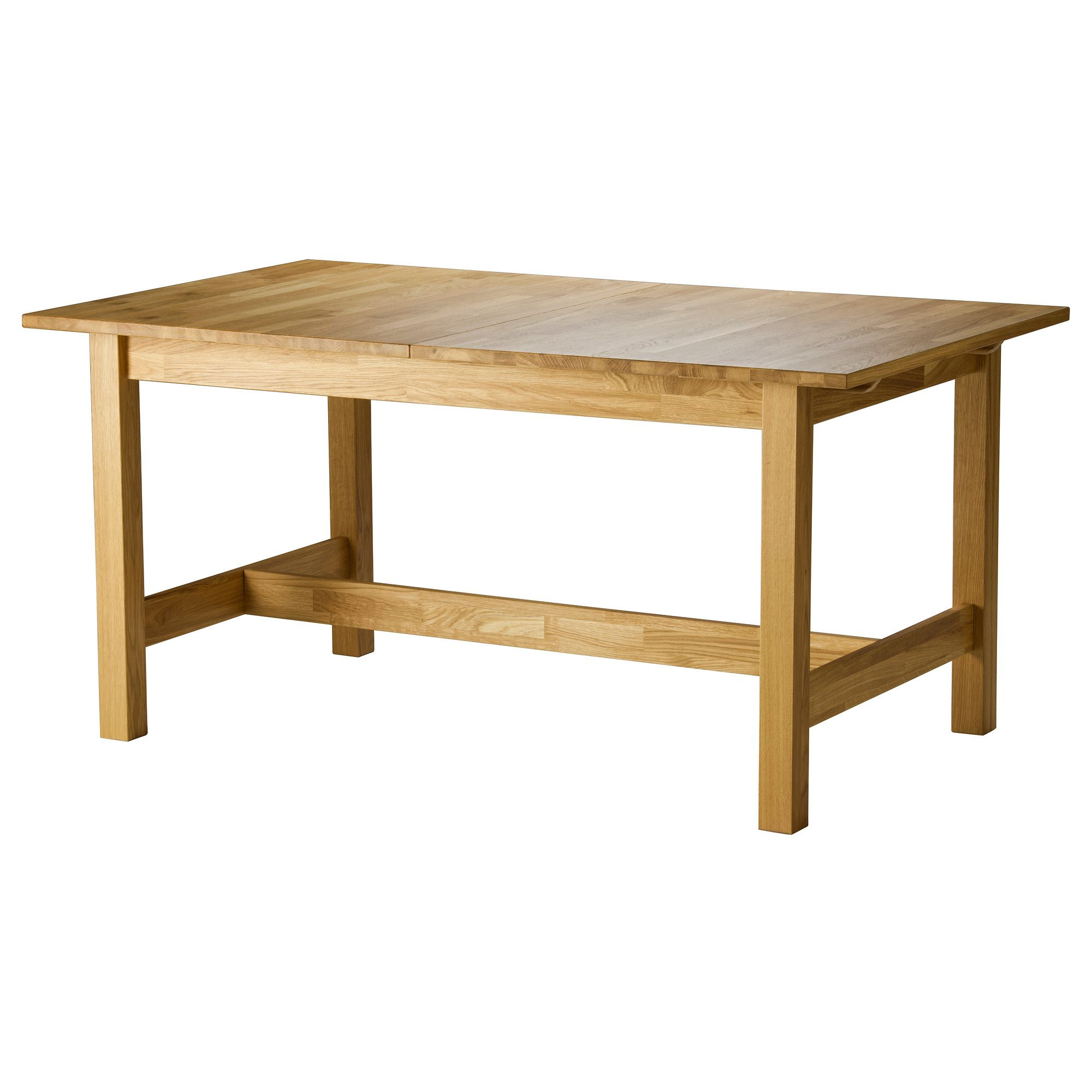 Ordinaire NORDBYN Extendable Table IKEA The 3 Mm Thick Top Layer Of Solid Wood Gives  The Tabletop The Same Look And Feel As Solid Wood.