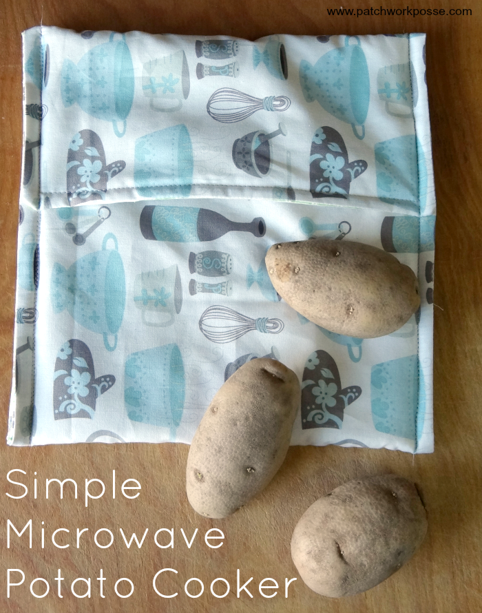 Do You Love Cooked Potatoes Not So Much How Long It Takes To Cook Them Sew Up A Microwave Potato Bag Quick