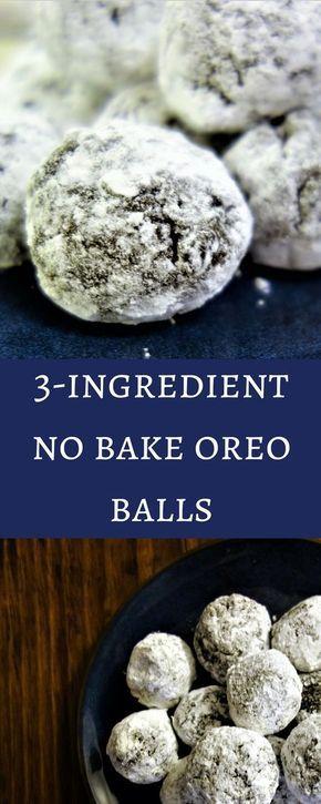 3 Ingredient No Bake Oreo Balls: Simple Easy Desserts