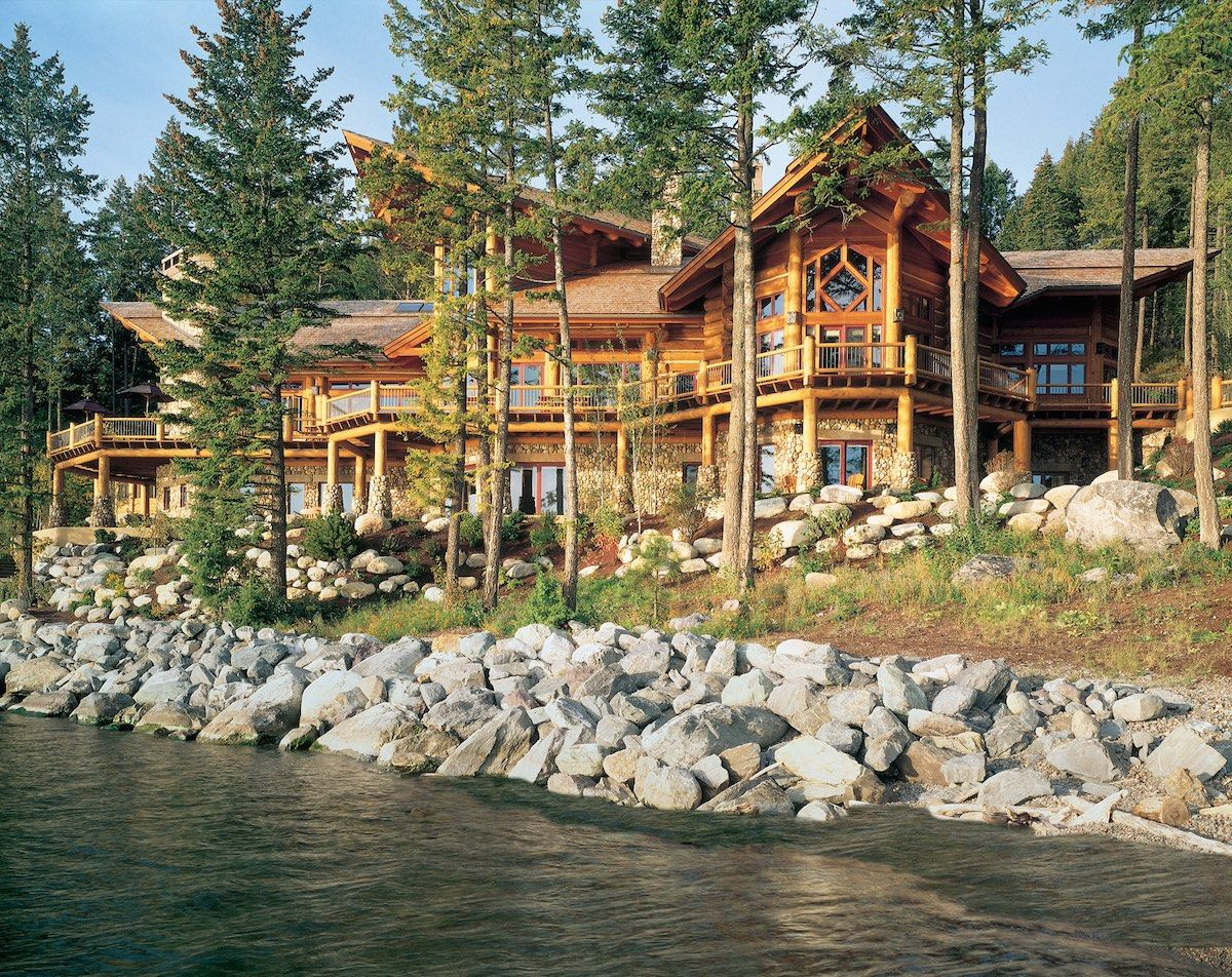 Pioneer Log Homes Lake Home | Cabins | Pinterest