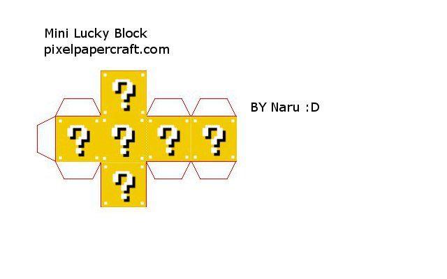 Papercraft Mini Lucky Block (Lucky Block Mod) | Minecraft