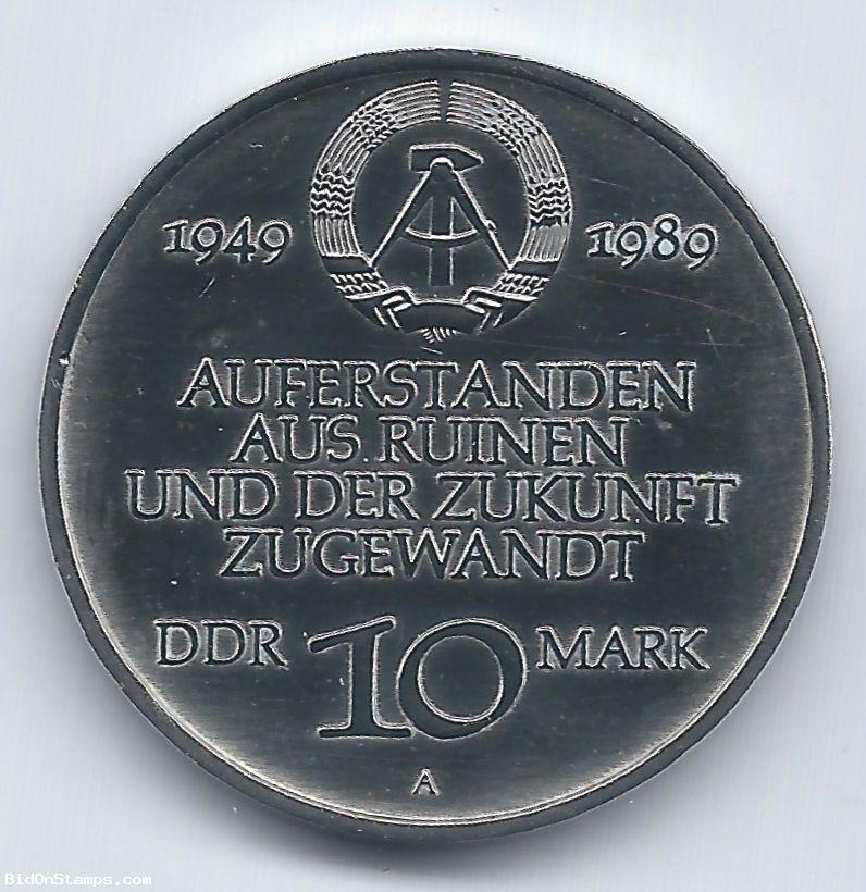 10 Mark (A) Deutsche Demokratische Republik (DDR) 1989 Ddr