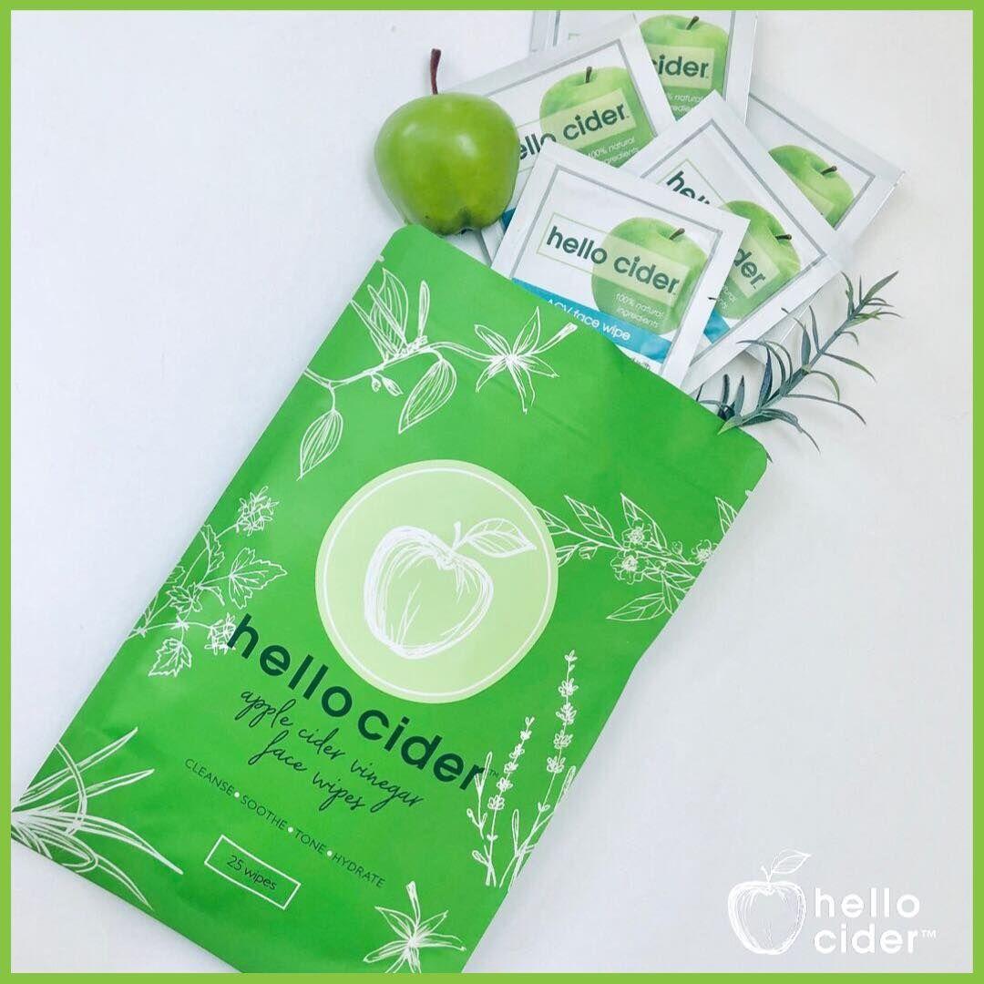 Apple cider vinegar face wipes pack of 25 apple cider