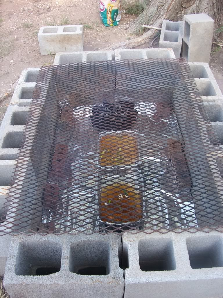 outdoor cooking pit ideas then added another layer of cinder