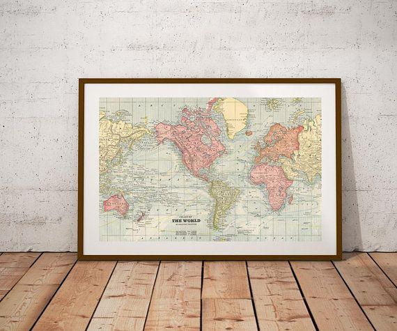 World map world map printp digital printntage world map poster world map world map printp digital printntage world map poster gumiabroncs Gallery