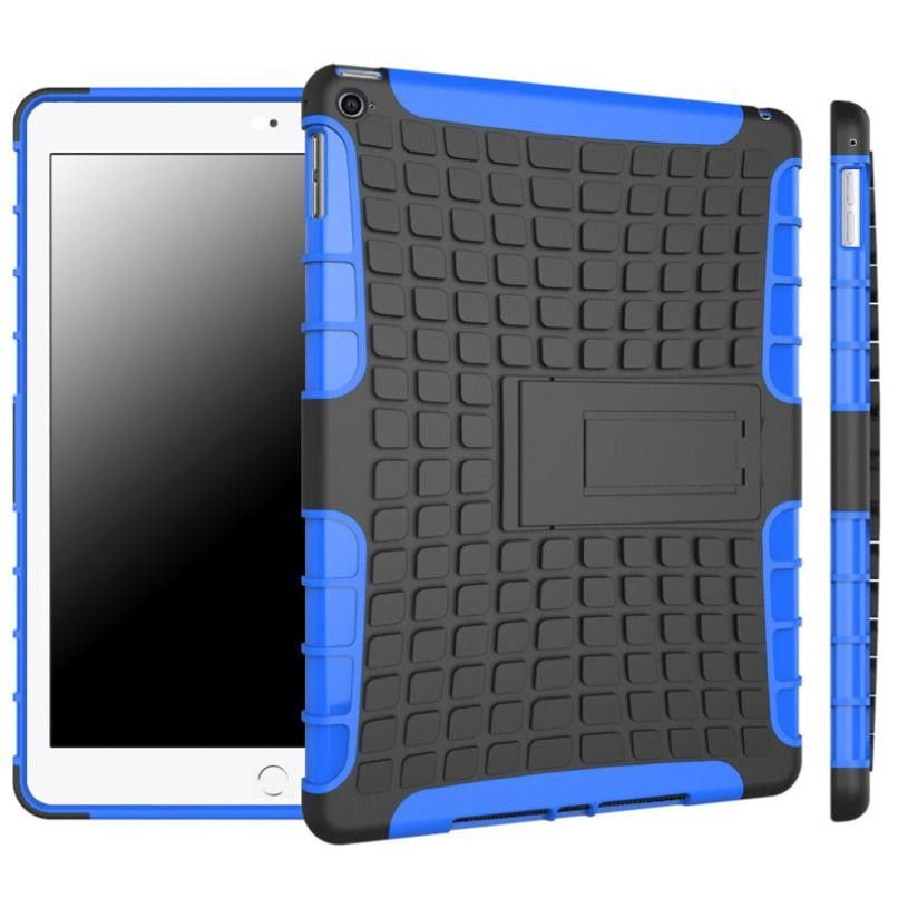 #15 Hybrid Armor Rugged Hard Case Cover Stand Skin For iPad Air 2 iPad 6 caso difficile copertura in pelle hybrid-schwerer fall