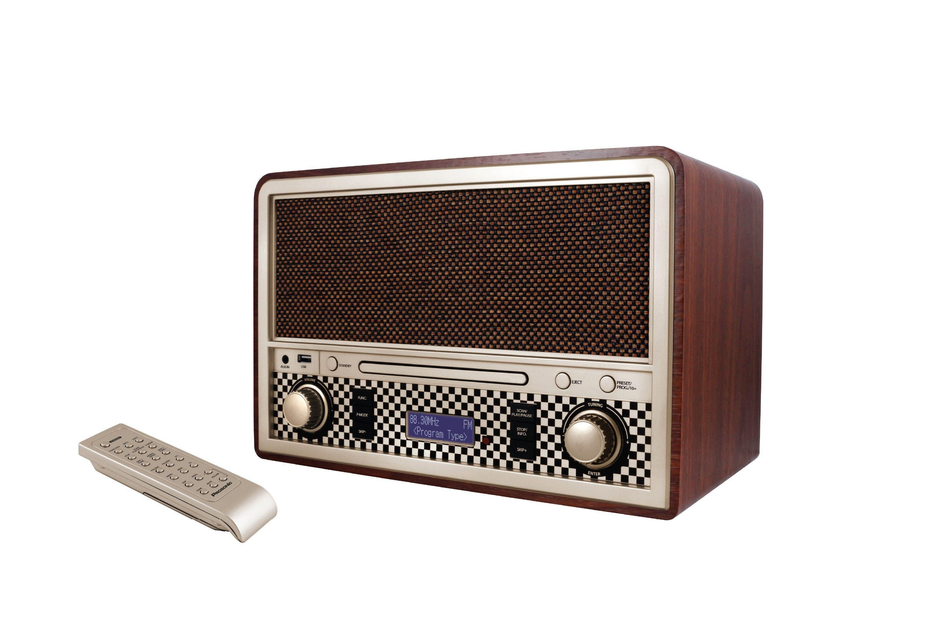 Gratis levering. Køb Prosonic retro RDC-505 - brun på Bilka.dk   Se også hele udvalget af Musikanlæg