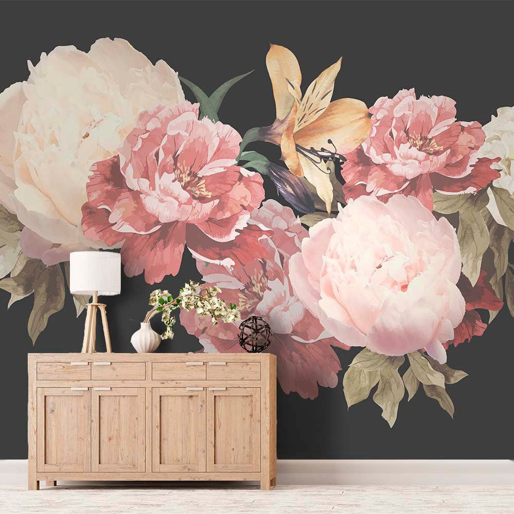 Peony Wallpaper Removable, Floral Wallpaper Peonies