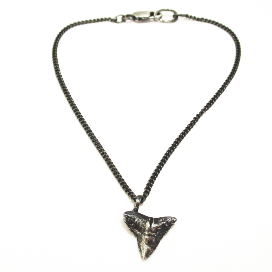 Shark tooth bracelet, made from a real shark tooth I found