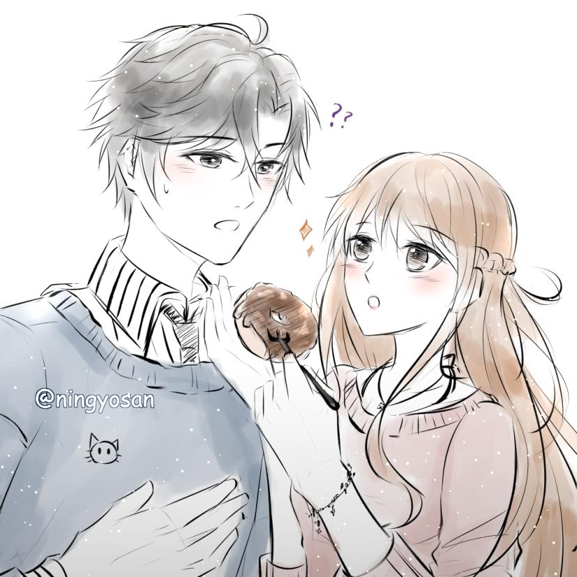 Fast sketch JuminxMC + donut xD 人魚