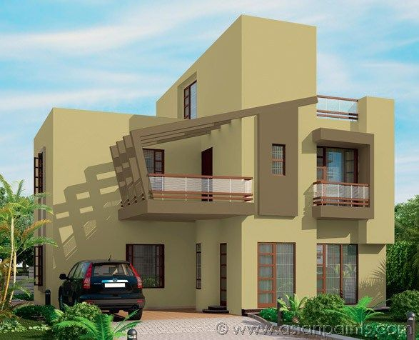 Exterior modern greens countryside 0g15 african plain for Outside paint colours for house in india