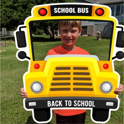 Bus Shaped Back To School Selfie Frame 1st Day Of School Photo